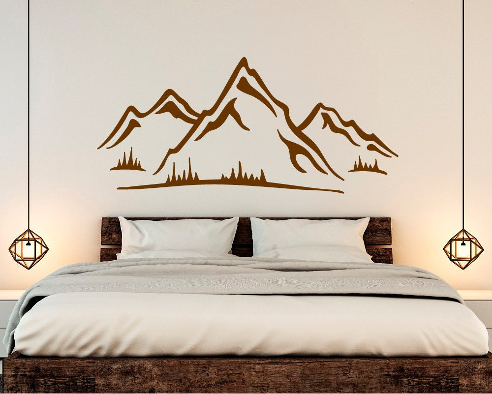 Mountain decal mountain wall sticker mountain sticker zoom amipublicfo Choice Image