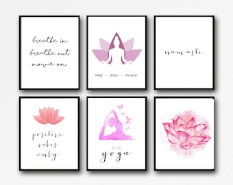 25 Prints - Yoga & Meditation Printable Set - Instant Download