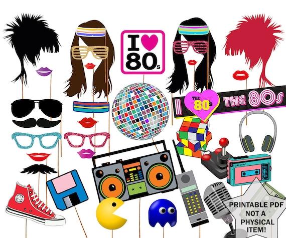 Des ann es 80 les accessoires photo booth 80 39 s party for Accessoires 80er party