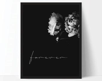 Peony Print - Love Print - Flower Print - Romantic Art - Flower Photo - Peony Art - Black and White Art - Digital Print - Digital Download