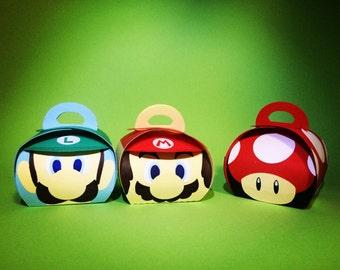 Super Mario favor boxes (Small size)