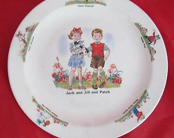 Vintage Beswick Plate - Jack, Jill and Patch