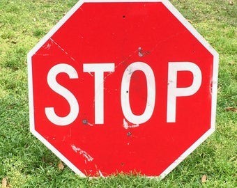 STOP SIGN, Wall hanging, yard art, road sign, traffic