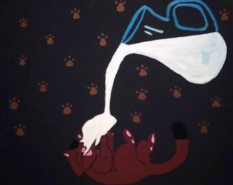 Cat's Milk Fantasy 16X20 Painting