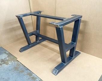 Nice Turned A Shaped Modern Steel Base, Design Steel Table Legs + 2 Cross Braces