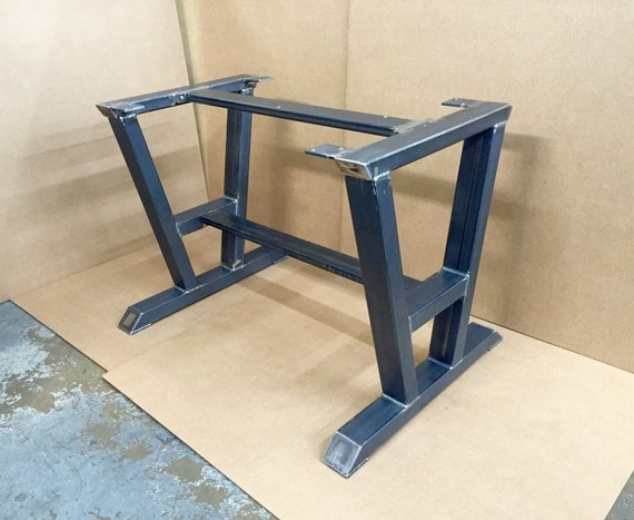 Turned a shaped modern steel base design steel table legs 2 for How to make a sturdy table base