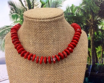 Coral Necklace // Gift for Her