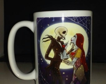 Jack Skellington Nightmare before Christmas inspired Best selling unique gift coffee mug.