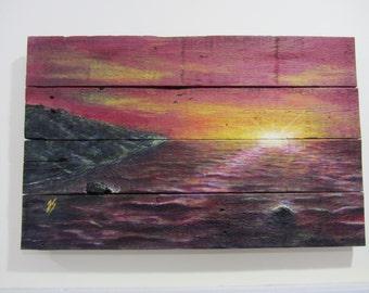 Pallet Art - Red Sea