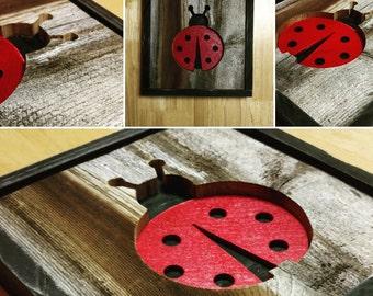 Nursery animal wall decor - Ladybug - Reclaimed Wood - Barnwood - Pallet wall art - Hippo - Giraffe - Whale - Moose - Elephant  goose