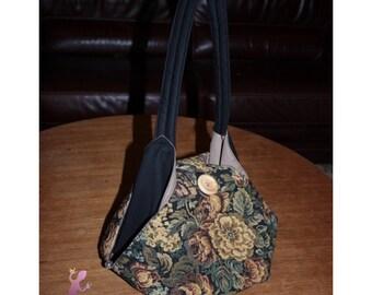 berlingot tapestry hand bag - flower motif