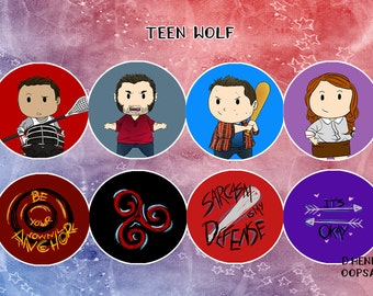 Teen Wolf Badge Set