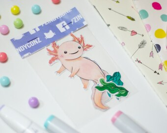 Cute axolotl sticker pack