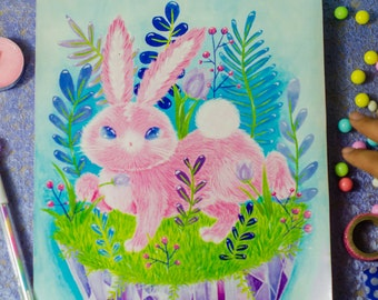 Cotton candy bunny print
