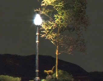 Fairy Garden Lamp Post Street Light for terrariums, dioramas, dollhouses, and trains, Compatible with Just Plug Lighting System