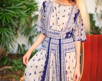 Gorgeous 1970s Bohemian Dress
