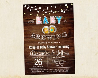 baby shower invitation couples baby shower invite baby shower