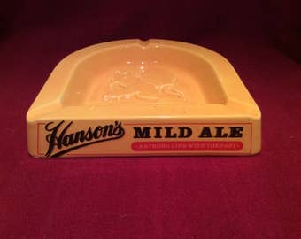 Hansons Porcelain Pub Ashtray Mild Ale A Strong Link With The Past