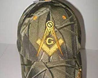 Prince Hall Affiliated Freemason embroidered Camouflage Hat