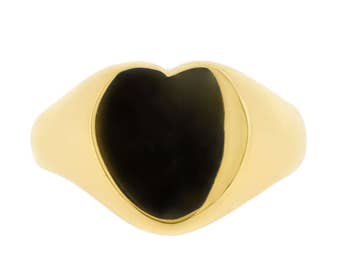 Heart Signet Ring in 9ct Yellow Gold (3409007)