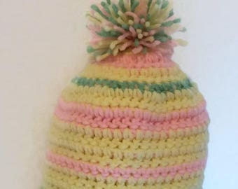 Multicolored Hat   Babies 6-9 mo