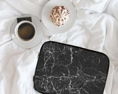 Split Black Marble Marble Print Marble Design Neoprene Laptop Sleeve MacBook Case Laptop Case Carry Case Laptop Bag  lspp020