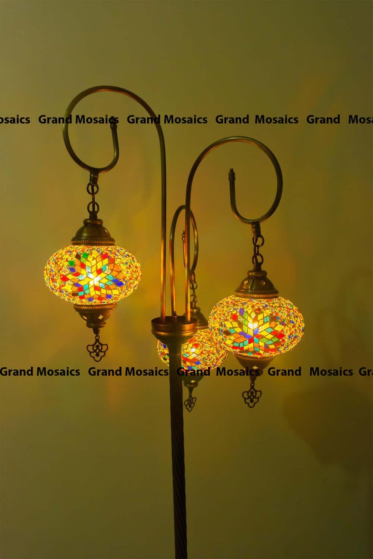 Lampes lampes mosaïque turque lampadaire moderne abat jour en étage bohème lanterne lanterne marocaine éclairage de la pièce moderne boho veilleuse