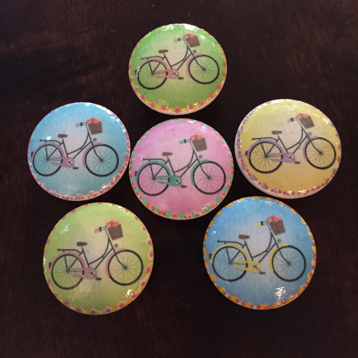 1 5 Inch Bicycle Knobs Bicycle With Basket Cabinet Knob
