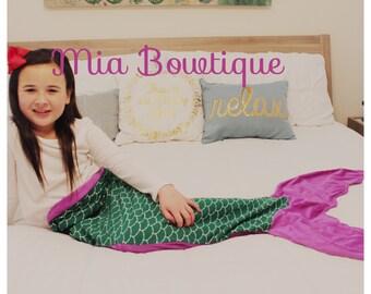 Mermaid Tail Blanket, Girl Mermaid Tail Blanket, Girl Mermaid Tail, Mermaid Tail Blanket, ...