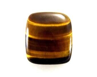 45Cts 24X27X7mm Gorgeous Tiger Eye Rectangle Shape Loose Gemstone Cabochon Semi Precious Tiger'S Eye Gemstone For Jewellery Making B-2501