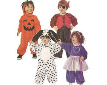 """50% Off Sale! 1990s Toddler Costume McCalls 396 Duck Dalmation Dog Tuxedo Cat Pumpkin Fairy Pirate Toddler Size 4 Chest 23"""" Sewing Pattern"""