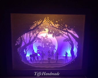 One Piece Paper Cut Light Box