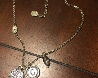 Silver Charm C Necklace