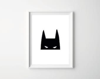 Batman Printable Decor, Batman wall Decor, Printable Batman Art, Batman Wall Art, Batman Room Decor, Batman Download, Nursery Decor
