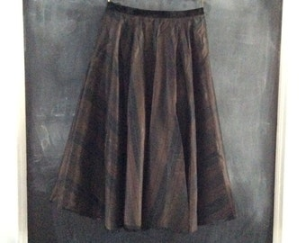 Vintage full circle skirt in ribbed tafetta (S-L)