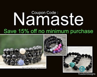 Mens Bracelets Fathers Day Gifts For Dad Gifts Discount Codes Saving Coupon Codes Jewelry Yoga Gifts For Him Namaste Gift For Her Zen Gifts