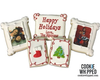 Holiday Photo Cookies Gift Set - 1 Dozen