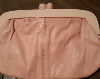 Reduced Price--Beautiful Vintage Pink Eaton Purse
