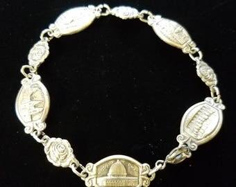 Fantastic antique silverplate charm bracelet