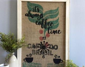 Burlap coffee sack | Etsy