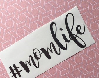 Mom Life Decal, Yeti Monogram Decal, Personalized Vinyl Decal, Car Decal, Phone Decal, Laptop Decal, Water Bottle Decal
