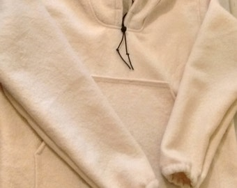 Hand Made 100% Wool Broadspear Bushcraft Boreal Shirt Size: XL- XXL (Cream)