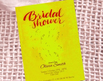 Bridal shower, Flowers, Yellow