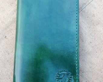 women's wallet. purse for a girl. green. sea wave.