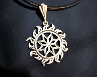 Slavic jewelry, Alatyr pendant, amulet for him/her, talisman for development, slavic symbol, shield from bad eye