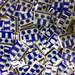 DOTS AND LINES-mosaic tile- ceramic broken plate-90 pcs-pique assiette id*712