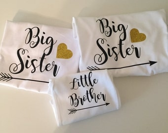 Set of 3 Big Sister/Little Brother Shirts