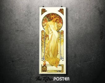 Sylvanis Essence, Alphonse Mucha, 1899 - Art Nouveau, Art Nouveau Poster, Art Nouveau Print, Vintage, French Vintage, Advertising