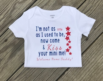 Military Homecoming Bodysuit, Welcome Home Daddy Shirt, Welcome Home Sign, Military Kids Top, Deployment Homecoming,