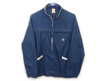 1970s Rain Jacket by Weather Toner - Vintage - Blue & White